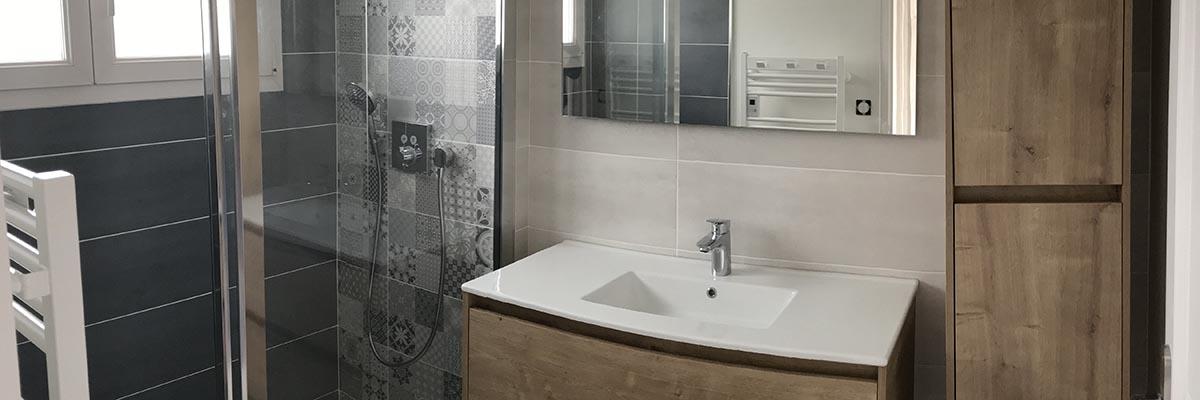 Agencement salle de bain complète à Lagord