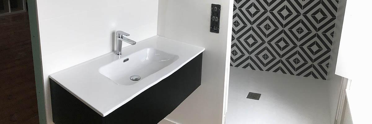 Agencement salle de bain design à La Rochelle